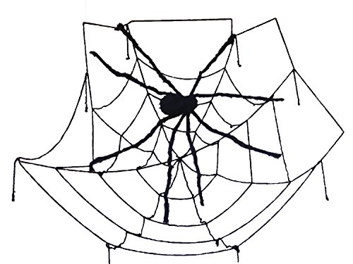 Giant Spider Halloween Decoration with 8 Ft Web