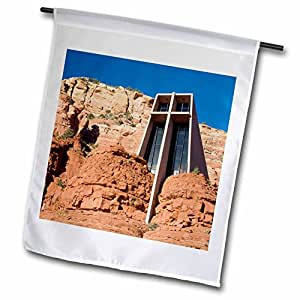 Danita Delimont - Churches - Arizona, Sedona, Chapel of the Holy Cross - US03 JWI0214 - Jamie and Judy Wild - 18 x 27 inch Garden Flag (fl_87974_2)