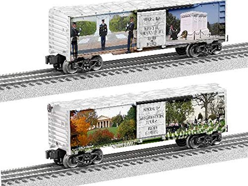 (Lionel Battlefield Honor Collection, Electric O Gauge Model Train Cars, Memorial Day Boxcar )