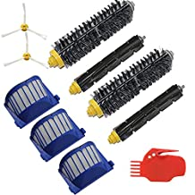 EcoMaid(TM) Accessories For Filters Bristle Brush Beater Brush Side Brush Cleaning tool Part kit for iRobot Roomba 585 595 600 620 650 Series Robotic Vacuums Cleaner Replenishment