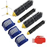 INTELCLEAN Accessories For Filters Bristle Brush Beater Brush Side Brush Cleaning tool Part kit for iRobot Roomba 585 595 600 620 650 Series Robotic Vacuums Cleaner Replenishment