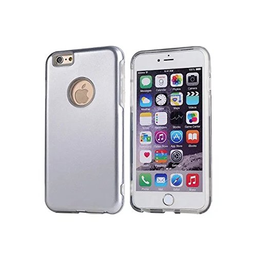 """Iphone 6 Coque,Iphone 6S 4.7 """"Coque,Lantier double couche TPU Transparent + PC dur Bumper Shock Absorbing et Scratch Resistant Cover pour Apple Iphone 6/6S 4.7"""" White"""