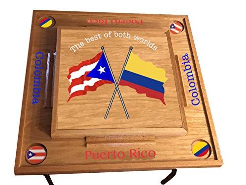 Puerto Rico & Colombia Domino Table