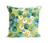 Liora Manne Mystic II Spring Flower Indoor/Outdoor Pillow, 20 x 20, Lime