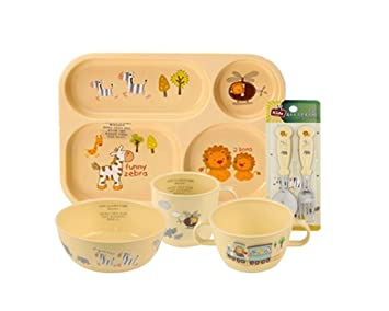 E-MART BPA Free 100% Biodegradable Corn Made Kids Dinnerware Basic Set  sc 1 st  Amazon.com & Amazon.com : E-MART BPA Free 100% Biodegradable Corn Made Kids ...