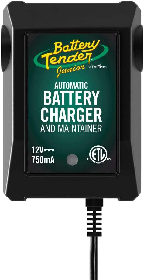Battery Tender Junior Charger and Maintainer: Automatic 12V Powersports Battery Charger and Maintainer for Motorcycle, ATVs, and More - Smart 12 Volt, 750mA Battery Float Chargers - 021-0123: Automotive