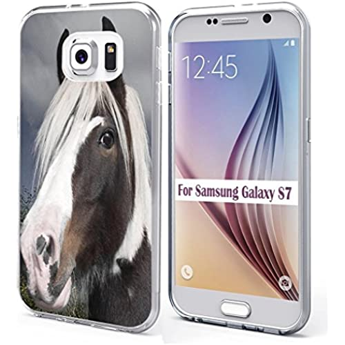 S7 Case Samsung Galaxy S7 Case Soft TPU Sides Cool Handsome Horse Sales