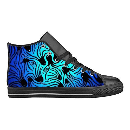 Importato Aquila High Top Action Scarpe da Uomo in Pelle Comoda Tela Sneaker Custom Design Polpo Creativo