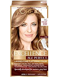 L'Oreal Paris ExcellenceAge Perfect Layered Tone Flattering Color, 7G Dark Natural Golden Blonde