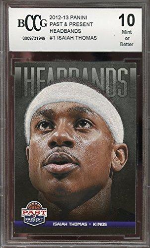 2012-13 past & present headbands #1 ISAIAH THOMAS celtics rookie BGS BCCG 10 Graded Card