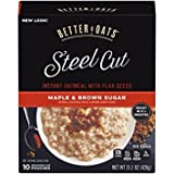 Better Oats Steel Cut Maple Brown Sugar 15.1 Ounce (2 Pack)