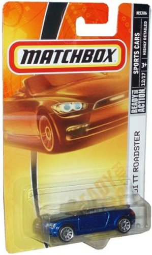 Mattel Matchbox 2007 MBX Sports Cars 1:64 Scale Die Cast Metal Car # 20 - Metallic Blue Convertible Sport Coupe Audi TT ()