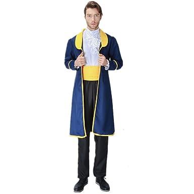 xiemushop Disfraz de Principe para Adulto Cosplay Principe Bestia Traje Medieval Halloween Carnaval