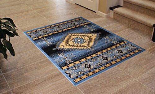 Cheap  Bellagio Southwest Native American Area Rug Design 357 Blue (4 Feet x..