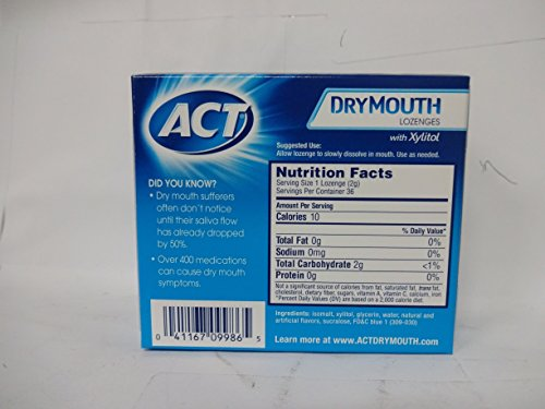 ACT Total Care Dry Mouth Lozenges Mint 36 Count Per Box (4 Boxes) by ACT (Image #1)