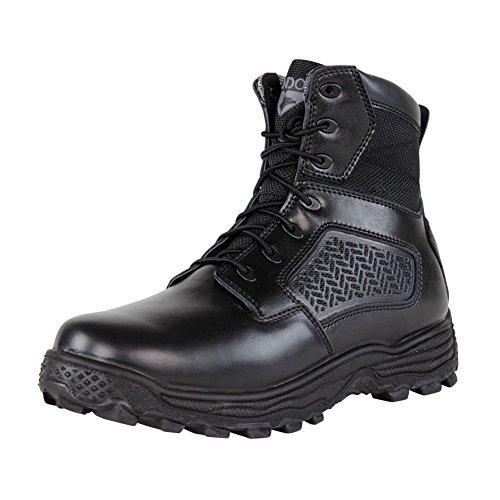 CONDOR Men's Garner Zip 6'' Tactical Waterproof Boots, Black Leather, Nylon Fabric, 10.5 E (Tactical Boot Leather Waterproof Professional)
