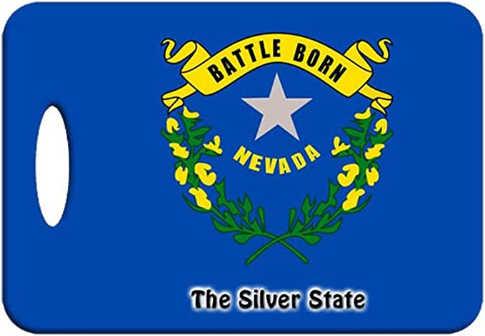 Set Of 2 Nevada State Flag And State Nickname Luggage Tags Amazon Ca Clothing Accessories