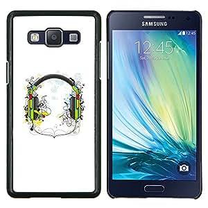 EJOOY---Cubierta de la caja de protección para la piel dura ** Samsung Galaxy A5 A5000 ** --Música Auriculares