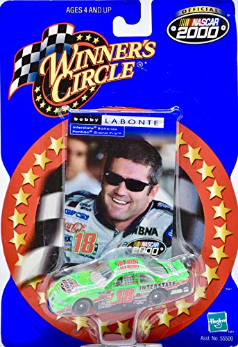 2000 - Winner's Circle/NASCAR - Bobby Labonte #18 - Interstate Batteries - Grand Prix - 1:64 Scale Die Cast - Collector Card - Rare - Mint