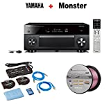 Yamaha AVENTAGE Audio & Video Component Receiver,Black (RX-A2070BL) + Monster Home Theater Accessory Bundle + Monster - Platinum XP 50' Compact Speaker Cable Bundle