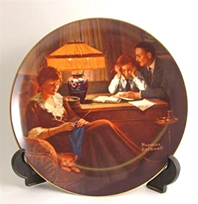 Knowles Rockwells Light Campaign Series Fathers Help by Norman Rockwell CP129