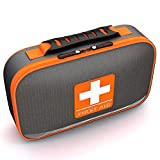 Complete First Aid Kit by Tidy Globe, Lightweight, Durable, Waterproof Case for all Emergencies,Cars, Boats, and Hiking