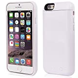 iPhone 6/6S External Battery Case, Ronten High Capacity 5000mAh Battery Charger Case Extended External Protective Power Bank Portable Case for iPhone 6/6S (White)