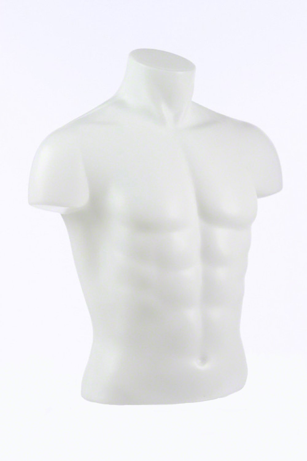 Male Torso Form 5/8'' Stand Fitting, White