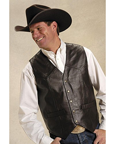 Roper Men's Basic Western Lambskin Vest Tall Brown X-Large Tall (Lamb Western Vest)