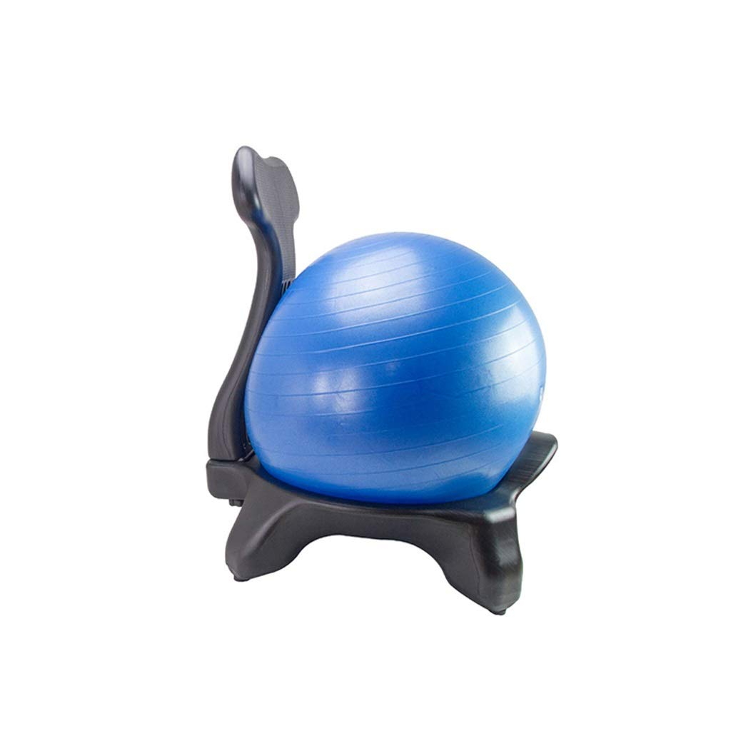 TangMengYun Yoga Ball Seat Fixed Yoga Fitness Ball Stool Baby Can Sit On The Bouncy Ball Chair Shelf Office Home (Color : with The Ball) by TangMengYun