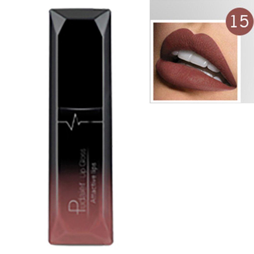 Pudaier - Rossetto liquido opaco e metallico–21colori, trucco effetto nude, rossetto opaco, waterproof, lucidalabbra Woopower