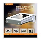 Lasting 16-LED Wireless Solar Motion Sensor Light Outdoor Home Garden Security Lamp, Weatherproof, Built-in Li-ion Battery (New Design 2nd Generation)