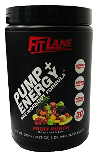 Cell Volumizer Muscle (Pre Workout Powder for Men and Women. Best Tasting Preworkout Nitric Oxide Booster with Citrulline & Agmatine to Boost Endurance. Pump + Energy by Fit Lane Nutrition Fruit Punch Flavor, 30 Servings.)