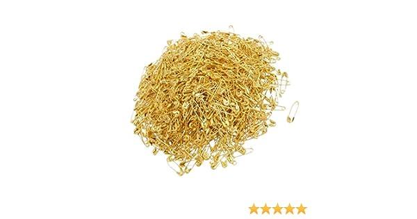 Saim exquisito peque/ño Tiny ropa recorte herramienta Fastener botones de Metal 18/mm oro tono Mini imperdibles para Poppy Making Imperdibles lazos Pack-of 1000 dorado