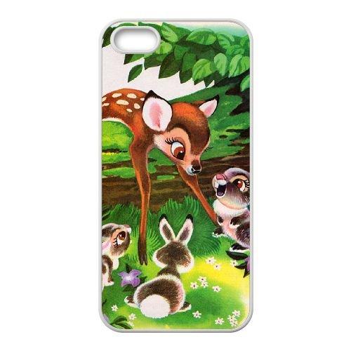 Bambi coque iPhone 5 5S Housse Blanc téléphone portable couverture de cas coque EBDOBCKCO10414