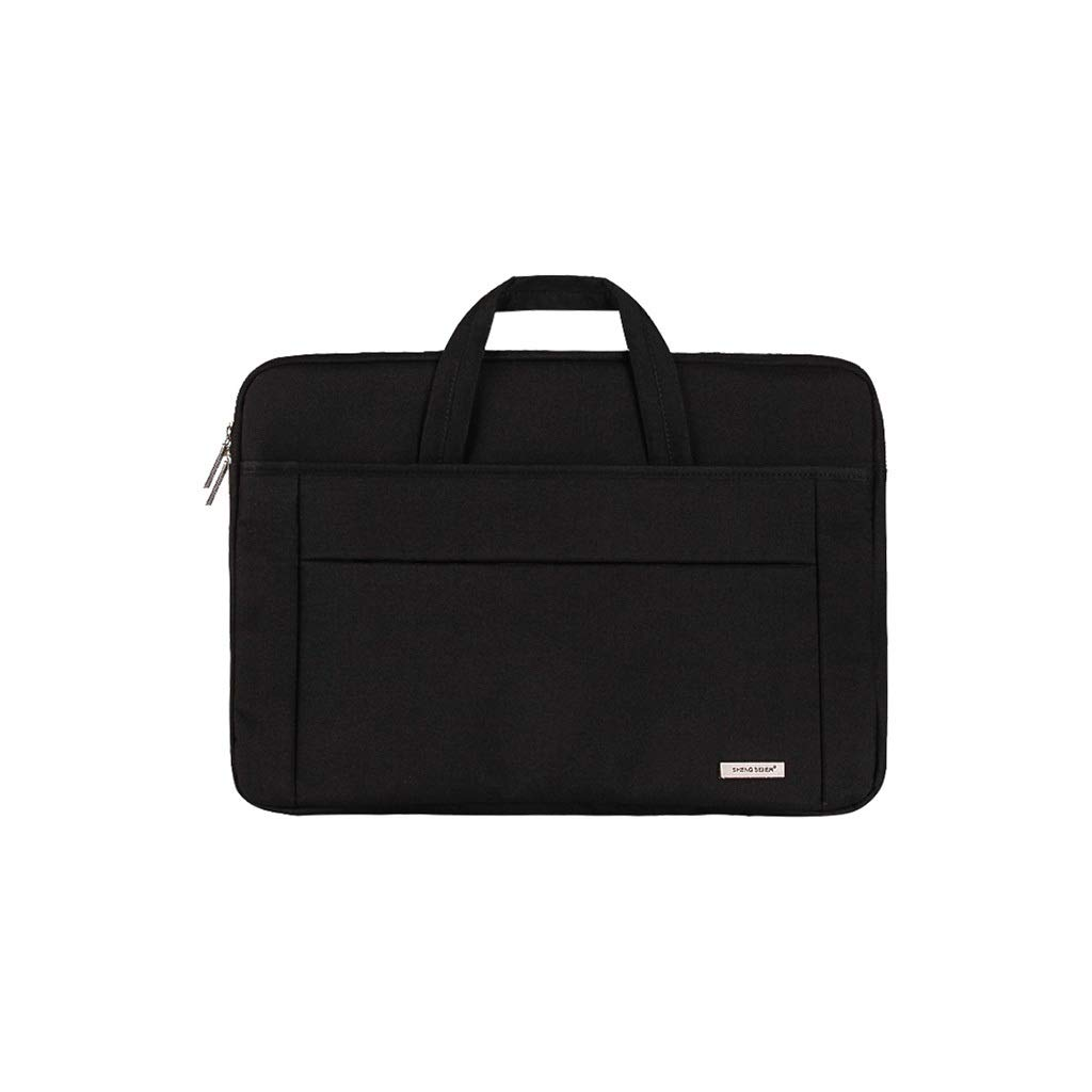 QSJY File Cabinets Handbags and Men's Shoulder Bags Business and Laptop Bags Laptop Accessory Bundles Women's Top-Handle Bags (Color : Black, Size : 34×23cm) by QSJY File Cabinets