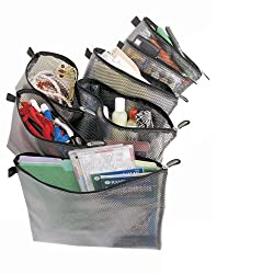Travelon Set Of 7 Packing Mesh Envelopes Bag Case Organizer Pouch Storage Travel