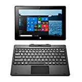 iRULU WalknBook 3 Notebook/Tablet PC 2-In-1(W3), Microsoft Windows 10 OS, IPS-Display, 32GB Hybrid Laptop, Quad Core, 10,1 Zoll mit HD-Auflösung 1280*800, abnehmbare Tastatur, Metallgehäuse (grau)