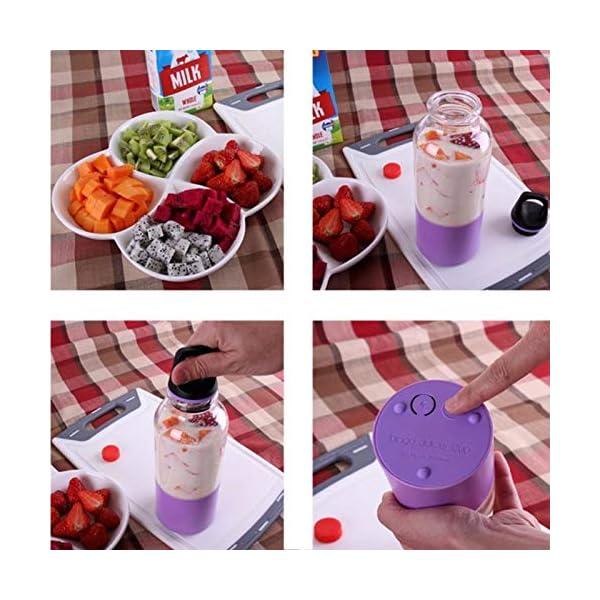 AMTSKR Spremiagrumi Elettrico Portatile Tazza Frullatore Multifunzionale Bottiglia Usb Ricaricabile Spremere Frutta… 3 spesavip