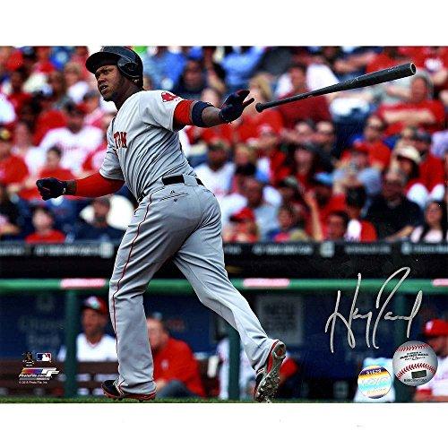 Hanley Ramirez Signed Red Sox Throwing Bat After Hit 8x10 Photo ( LOJO Sports (Ramirez Signed Bat)