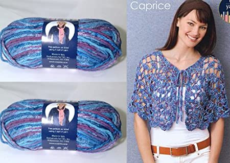 1x50g/1.75oz Cotton Blend Caprice Aran yarn by N.Y. Yarns #3 - Blue