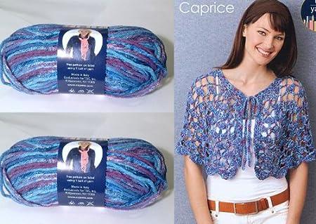 1x50g/1.75oz Cotton Blend Caprice Aran yarn by N.Y. Yarns #3 - Blue