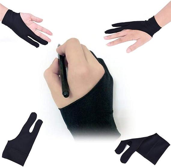 GUOJIAYIブラックタブレットPC 2指防汚、左手と右手に最適Black6pcs