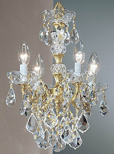 Olde Cast Brass Crystal (Classic Lighting 5544 OWB C Madrid Imperial, Crystal Cast Brass, Mini-Chandelier, Olde World Bronze)