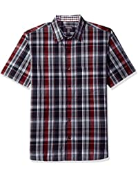 Men's Never Tuck Slim Fit Printed Short Sleeve Shirt