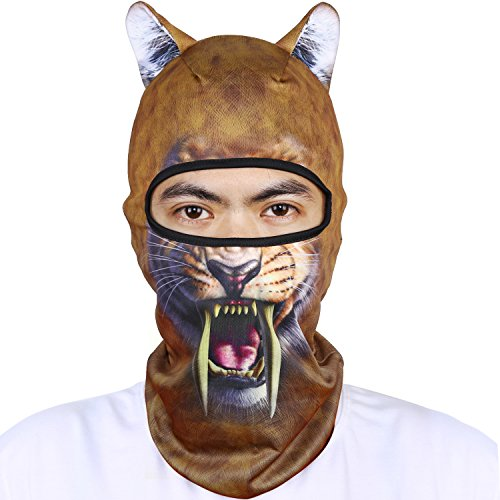Oumers Animal Balaclava Face Mask with Ears Breathable Hood Face Shield for Outdoor Sports Cycling Motorcycle Ski Halloween Party Gift, One Size Fit Most -Style-03