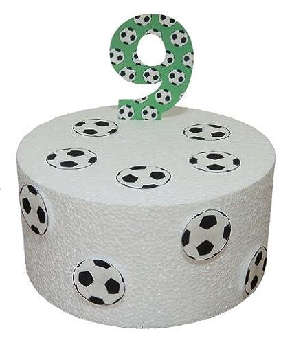 Birthday Precortado fútbol cumpleaños con el número 9 y ...