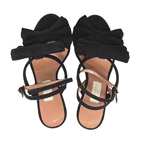 LAutre Chose Femme OSE267 Noir Suède Sandales