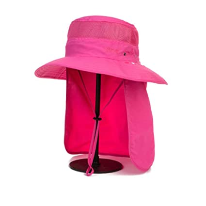 fca84bb6d2ba8 Image Unavailable. Image not available for. Color  FH Summer Men s Shade Fisherman  Hat Outdoor Mountaineering Face Sun Protection Cap UV Protection Fishing ...
