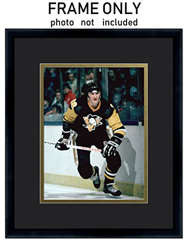 5x7 Photo Frame - with Pittsburgh Penguins Colors Double Mat (Picture Frame Penguin)